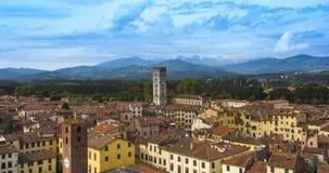 Lucca_Tuscany,意大利 免版税图库摄影