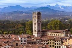Lucca_Tuscany,意大利 库存照片