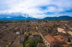 Lucca_Tuscany,意大利 免版税库存照片