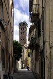 Lucca Tuscany, Italien. Gator arkivbilder