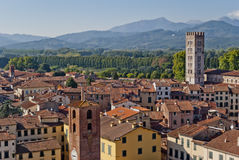 Lucca, Tuscany, Italy. Lucca panoramic view, Tuscany, Italy Royalty Free Stock Photography