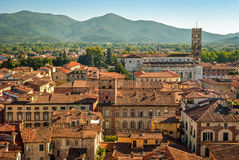 Lucca (Tuscany Italy) panorama Royalty Free Stock Image