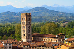 Lucca, Tuscany - View over Old Town Royalty Free Stock Photo