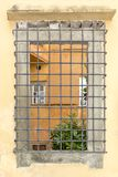 Lucca, window with grids, Tuscany, Italy Stock Images