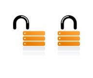 Lucchetti arancioni Immagine Stock Libera da Diritti