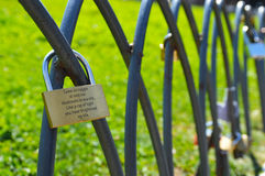 Lucchetti di amore Fotografie Stock Libere da Diritti