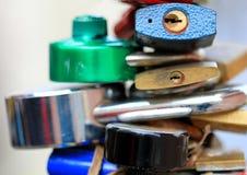 Lucchetti Locked fotografia stock