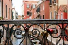 Lucchetti a Venezia Immagine Stock Libera da Diritti
