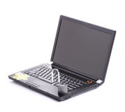 Lucchetto aperto del briciolo di obbligazione del computer portatile Immagine Stock Libera da Diritti