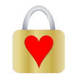 Lucchetto con cuore Fotografia Stock Libera da Diritti