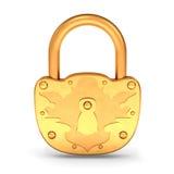 Lucchetto dell'oro Fotografia Stock Libera da Diritti