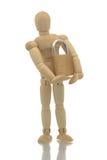 Lucchetto della holding del manichino Immagini Stock Libere da Diritti