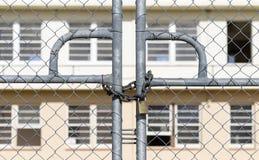 Lucchetto delle barriere di sicurezza Fotografia Stock