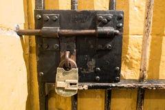 Lucchetto e cellula Fotografie Stock Libere da Diritti