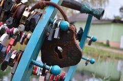 Lucchetto su felicità Fotografia Stock Libera da Diritti