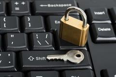 Concetto di sicurezza della tastiera di computer Fotografia Stock