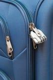 Lucchetto in valigia moderna Fotografia Stock