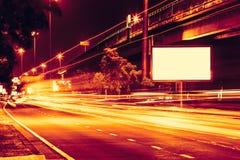 Luce ad alta velocità della traccia dell'automobile Fotografia Stock Libera da Diritti