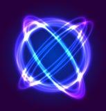 Luce al neon di vettore del cerchio Fotografia Stock