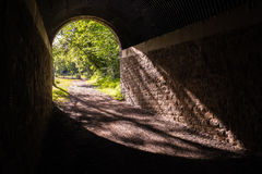 Luce all'estremità del tunnel Fotografia Stock Libera da Diritti