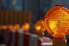 Luce ambrata di rischio di traffico Fotografia Stock Libera da Diritti