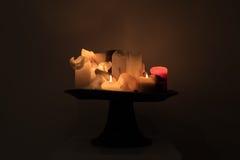 Luce ancora Lilfe della candela Fotografie Stock Libere da Diritti