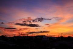 Luce arancio di mattina Fotografia Stock Libera da Diritti
