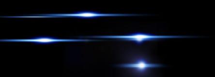 Luce astratta su fondo nero, orizzontalmente Fotografia Stock