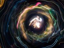Luce astratta sul colpo lungo di esposizione Immagine Stock Libera da Diritti