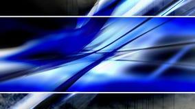Luce blu di deformazione inscatolata stock footage