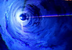 Luce blu molle Fotografie Stock