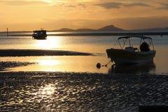 Luce calda su tempo di tramonto fotografia stock