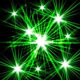 Luce cosmica brillante verde Immagini Stock Libere da Diritti
