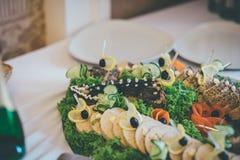 Luce cozido no prato no restaurante Foto de Stock Royalty Free