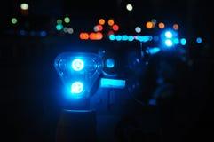 Luce d'avvertimento blu Fotografia Stock