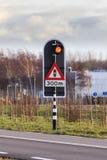 Luce d'avvertimento del semaforo Fotografie Stock Libere da Diritti