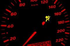 Luce d'avvertimento dell'airbag Fotografie Stock Libere da Diritti