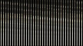 luce d'ondeggiamento 4k sulle strisce di metallo, linee di acciaio inossidabile ritmo, contesto di musica del vj illustrazione vettoriale