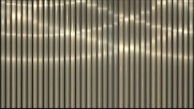 luce d'ondeggiamento 4k sulle strisce di metallo, linee di acciaio inossidabile ritmo, contesto di musica del vj illustrazione di stock
