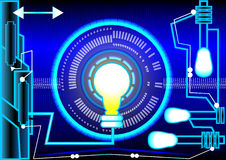Luce del blu dell'estratto e di energia Fotografia Stock