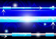 Luce del blu dell'estratto e di energia Fotografie Stock Libere da Diritti