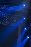 Luce del blu di concerto Immagini Stock