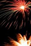 Luce del fuoco d'artificio Immagine Stock