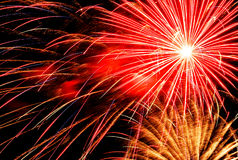 Luce del fuoco d'artificio Immagini Stock Libere da Diritti