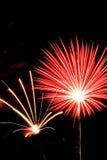 Luce del fuoco d'artificio Fotografia Stock