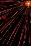 Luce del fuoco d'artificio Fotografie Stock