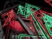 Luce del Natale Eve Night di luce fotografia stock