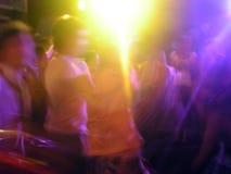 Luce del partito nel ballo del pub Fotografia Stock