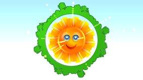 Luce del pianeta del globo del gruppo del sole della terra illustrazione vettoriale