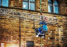 Luce del punto di film in Palazzo Vecchio a Firenze Immagini Stock Libere da Diritti
